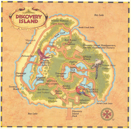 WDW: Discovery Island Map
