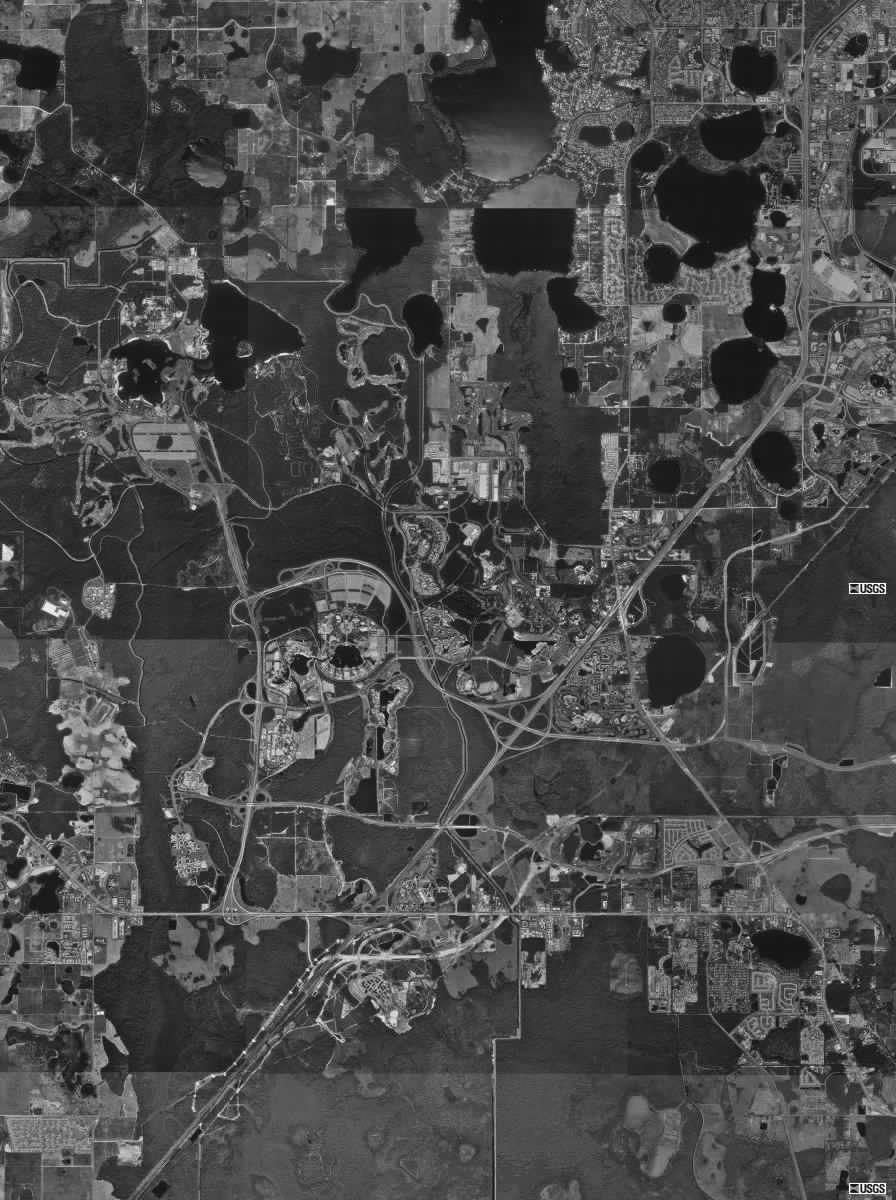 Wdw satellite image of wdw property walt disney world resort property map gumiabroncs Choice Image